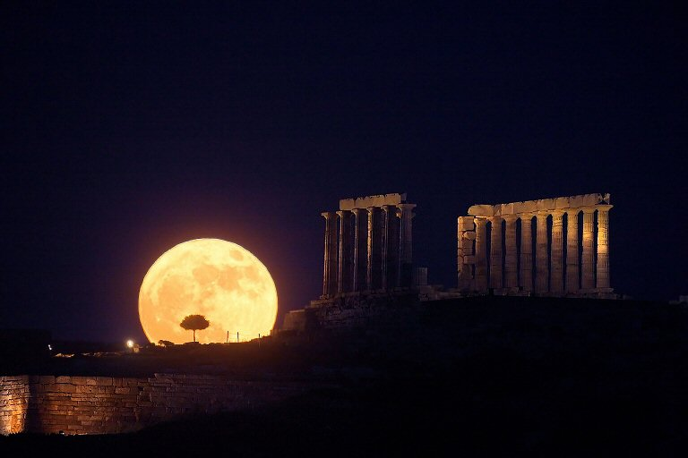 Solstice Moonrise, Cape Sounion